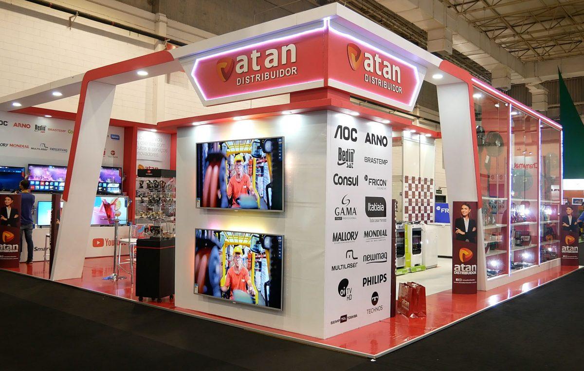 Atan Distribuidor apresenta marca durante a Eletrolar Sow 2019