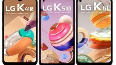 Novos telefones LG da Série K