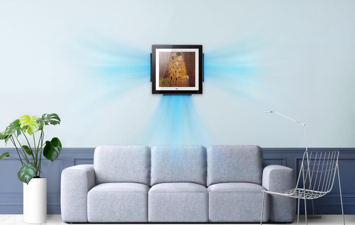 LG apresenta ar-condicionado de parede que pode ser usado como obra de arte