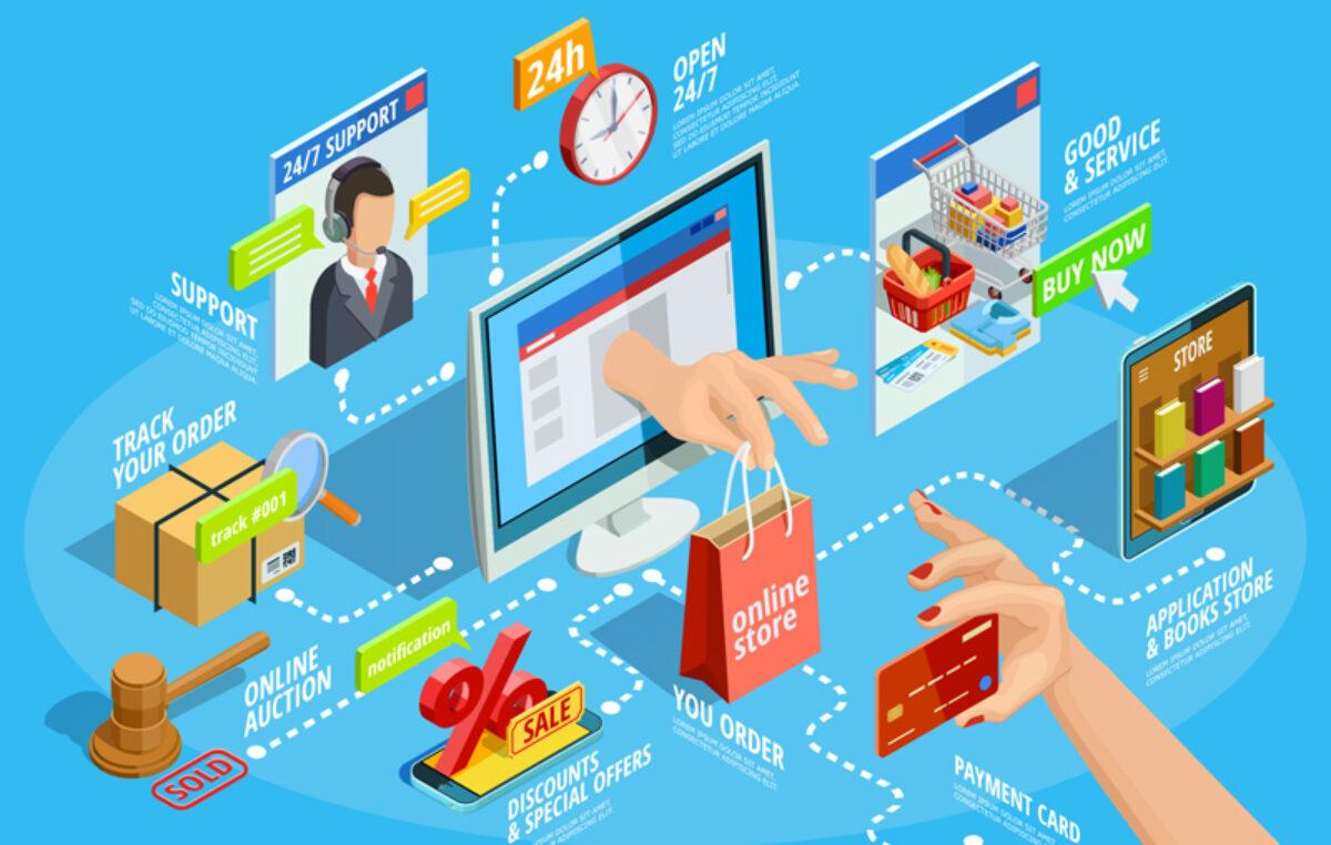 Comércio eletrônico dobra as vendas em junho