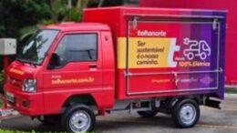 Telhanorte inicia entregas por meio de carro 100% elétrico