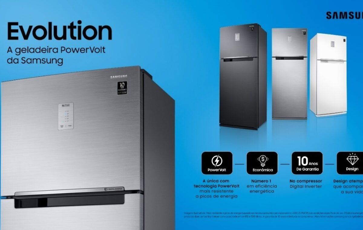 Samsung Evolution: conheça o poder da resistência com as novas geladeiras com tecnologia PowerVolt