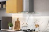 Eficiência e funcionalidade nas novas coifas de vidro curvo Glass Classic da Franke