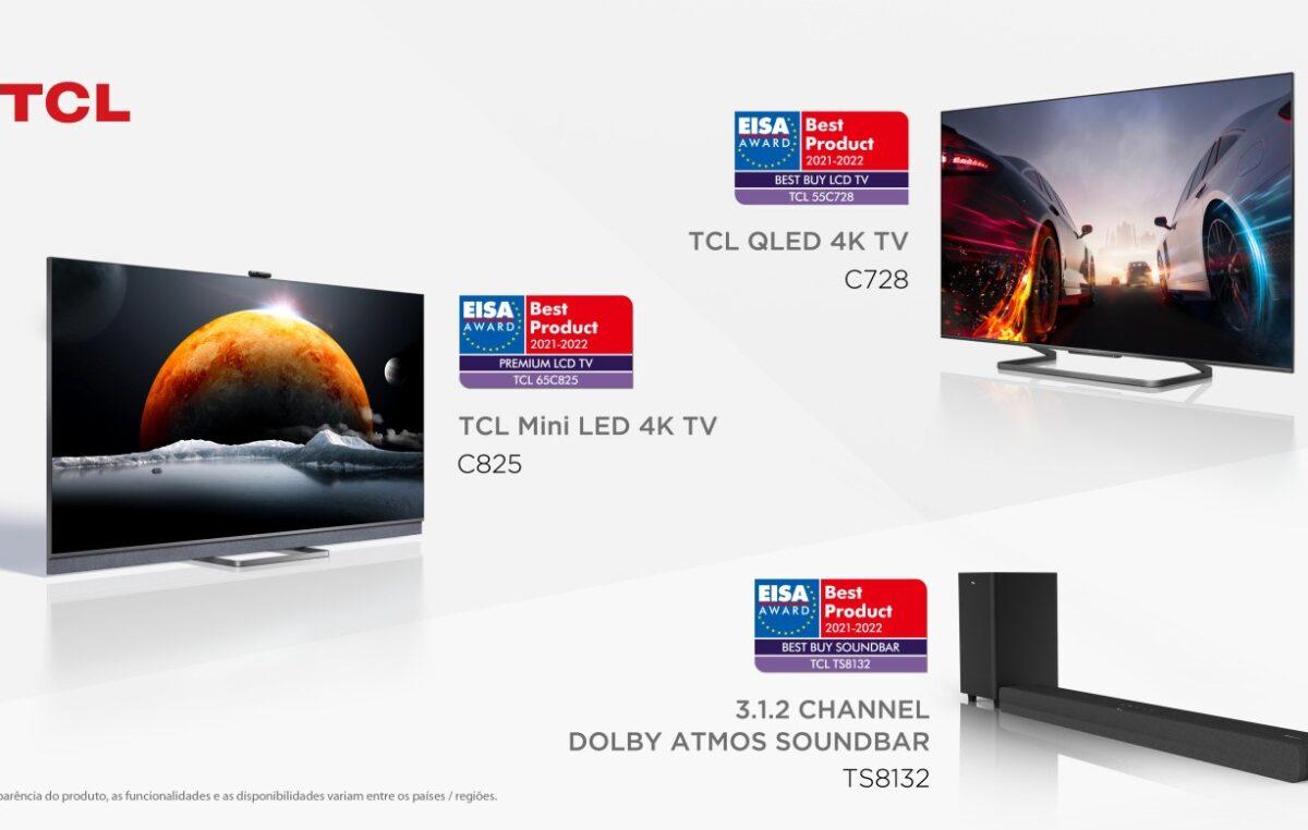 TCL ganha três prêmios EISA 2021-2022, incluindo TV LCD premium