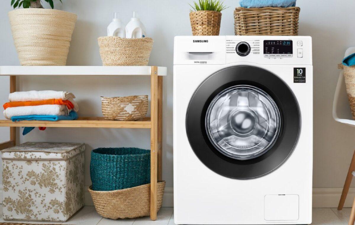 Nova lavadora da Samsung proporciona lavagem eficiente e econômica